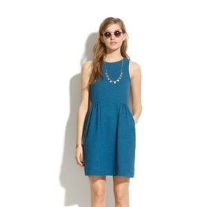 Madewell Keynote Ponte Sleeveless Blue Dress A8495